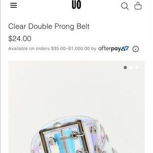 Clear Grommet Belt!
